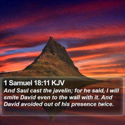 1 Samuel 18:11 KJV Bible Verse Image