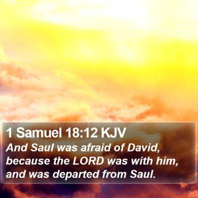 1 Samuel 18:12 KJV Bible Verse Image
