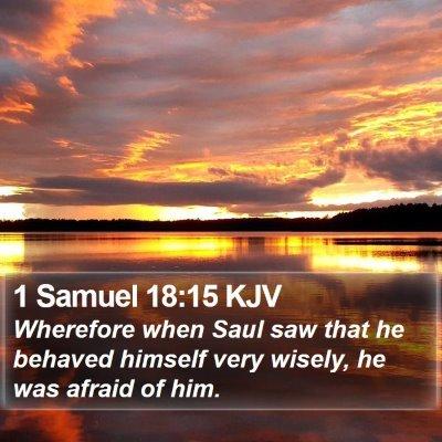 1 Samuel 18:15 KJV Bible Verse Image