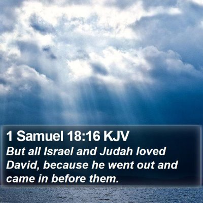 1 Samuel 18:16 KJV Bible Verse Image