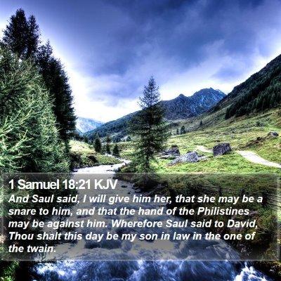 1 Samuel 18:21 KJV Bible Verse Image
