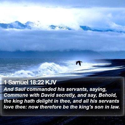 1 Samuel 18:22 KJV Bible Verse Image