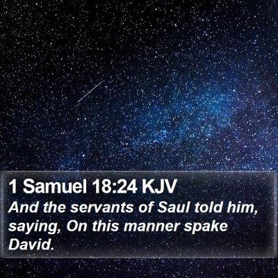 1 Samuel 18:24 KJV Bible Verse Image