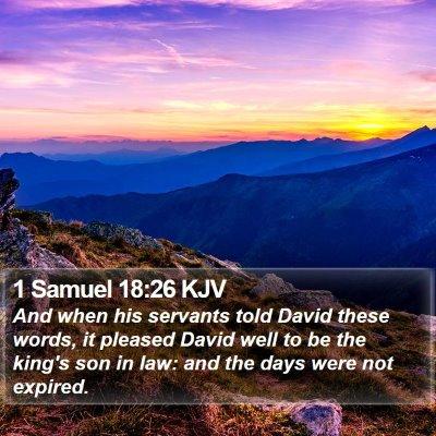 1 Samuel 18:26 KJV Bible Verse Image