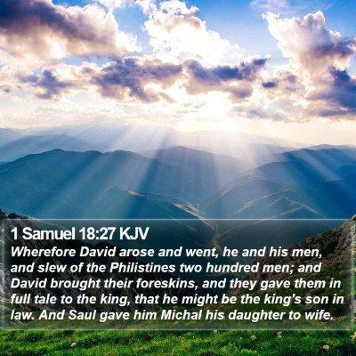 1 Samuel 18:27 KJV Bible Verse Image