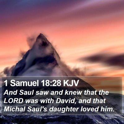 1 Samuel 18:28 KJV Bible Verse Image