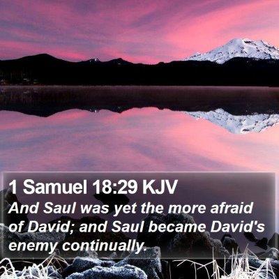 1 Samuel 18:29 KJV Bible Verse Image