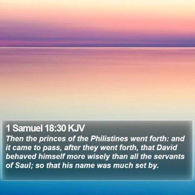 1 Samuel 18:30 KJV Bible Verse Image