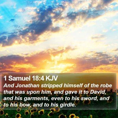 1 Samuel 18:4 KJV Bible Verse Image