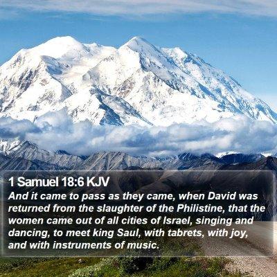 1 Samuel 18:6 KJV Bible Verse Image