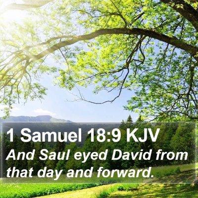 1 Samuel 18:9 KJV Bible Verse Image