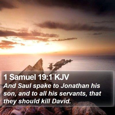 1 Samuel 19:1 KJV Bible Verse Image