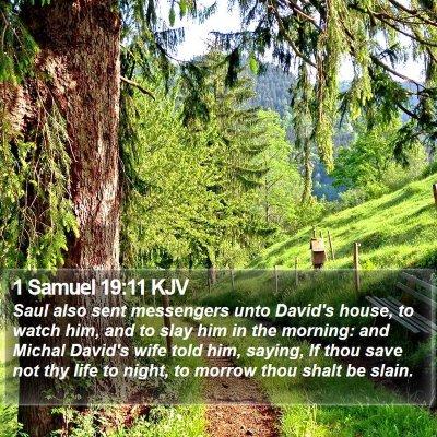 1 Samuel 19:11 KJV Bible Verse Image