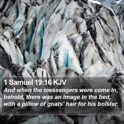1 Samuel 19:16 KJV Bible Verse Image