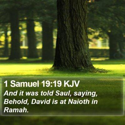 1 Samuel 19:19 KJV Bible Verse Image
