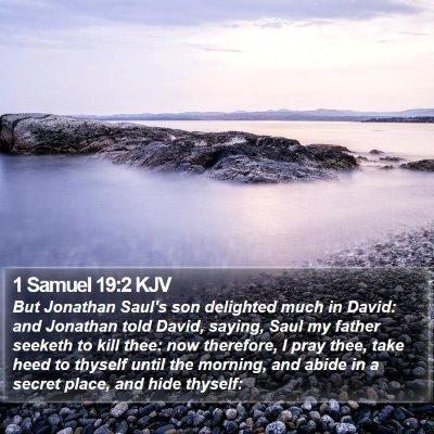 1 Samuel 19:2 KJV Bible Verse Image