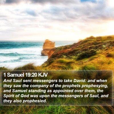 1 Samuel 19:20 KJV Bible Verse Image