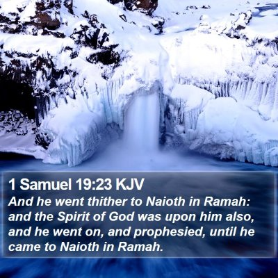 1 Samuel 19:23 KJV Bible Verse Image