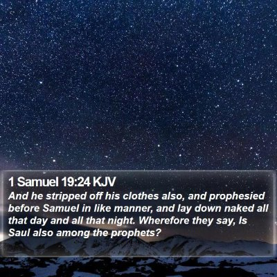 1 Samuel 19:24 KJV Bible Verse Image