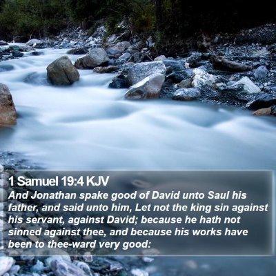 1 Samuel 19:4 KJV Bible Verse Image