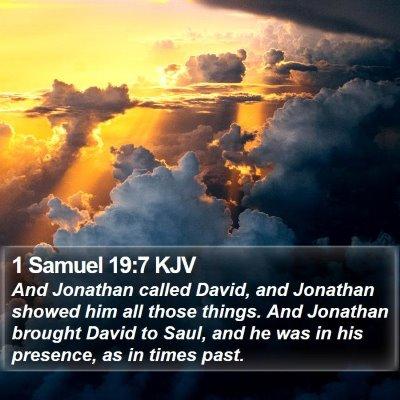 1 Samuel 19:7 KJV Bible Verse Image