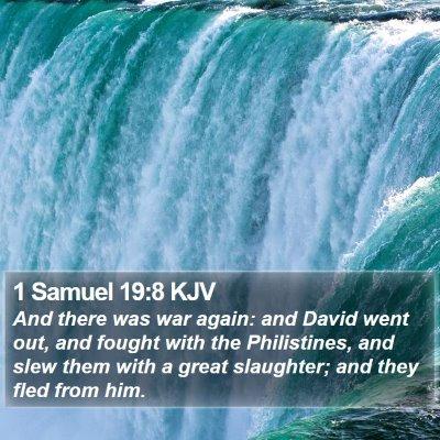 1 Samuel 19:8 KJV Bible Verse Image