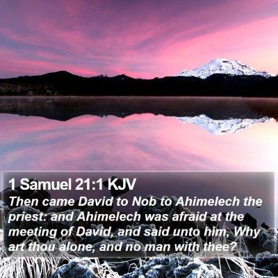 1 Samuel 21:1 KJV Bible Verse Image