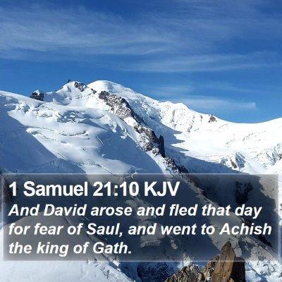 1 Samuel 21:10 KJV Bible Verse Image