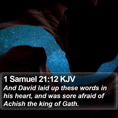 1 Samuel 21:12 KJV Bible Verse Image