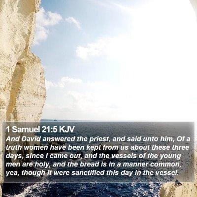 1 Samuel 21:5 KJV Bible Verse Image
