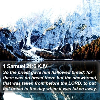 1 Samuel 21:6 KJV Bible Verse Image