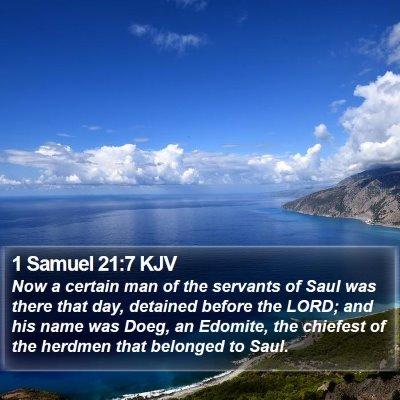 1 Samuel 21:7 KJV Bible Verse Image