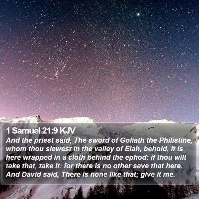 1 Samuel 21:9 KJV Bible Verse Image