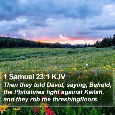1 Samuel 23:1 KJV Bible Verse Image