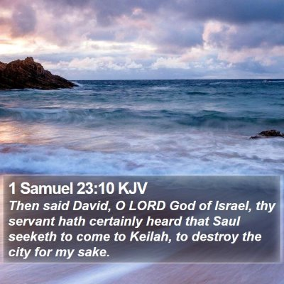 1 Samuel 23:10 KJV Bible Verse Image