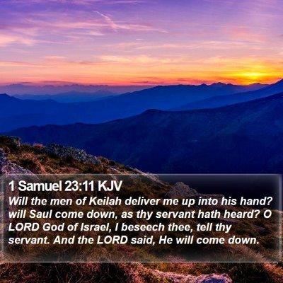 1 Samuel 23:11 KJV Bible Verse Image