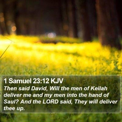 1 Samuel 23:12 KJV Bible Verse Image