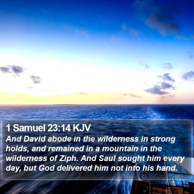 1 Samuel 23:14 KJV Bible Verse Image