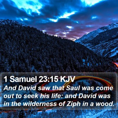 1 Samuel 23:15 KJV Bible Verse Image