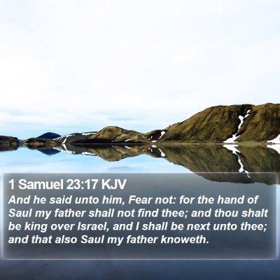 1 Samuel 23:17 KJV Bible Verse Image