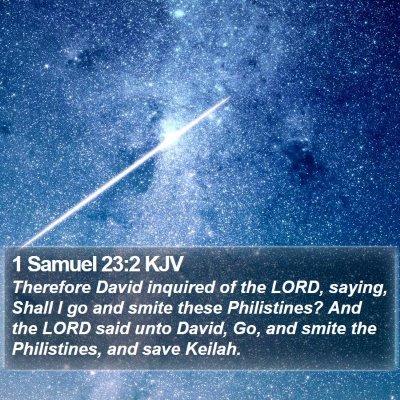 1 Samuel 23:2 KJV Bible Verse Image