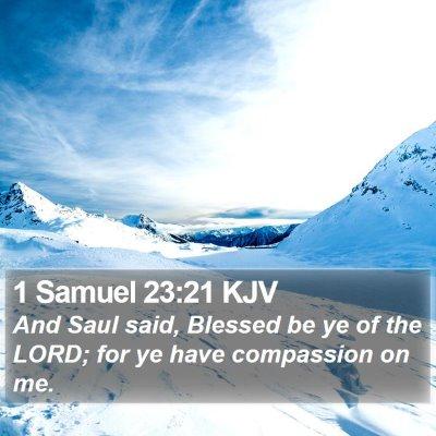 1 Samuel 23:21 KJV Bible Verse Image