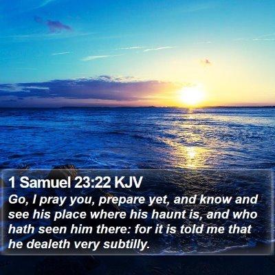 1 Samuel 23:22 KJV Bible Verse Image