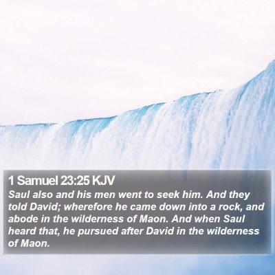 1 Samuel 23:25 KJV Bible Verse Image