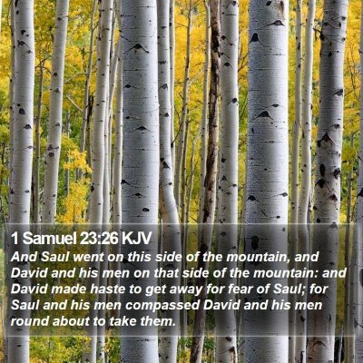 1 Samuel 23:26 KJV Bible Verse Image