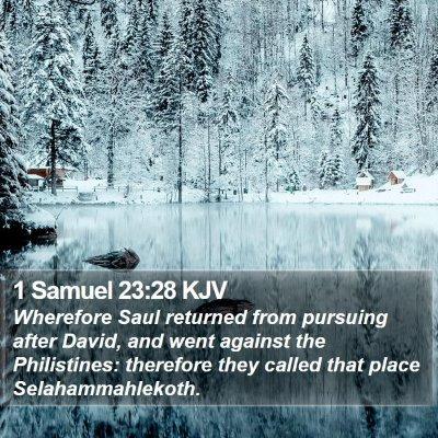 1 Samuel 23:28 KJV Bible Verse Image