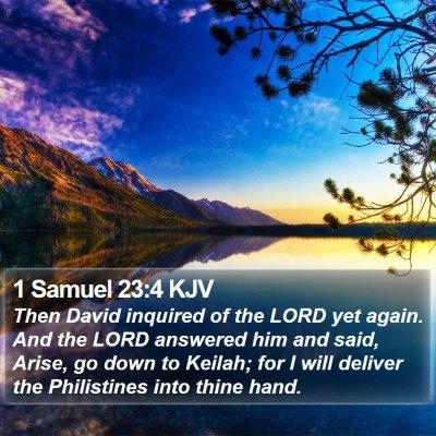 1 Samuel 23:4 KJV Bible Verse Image