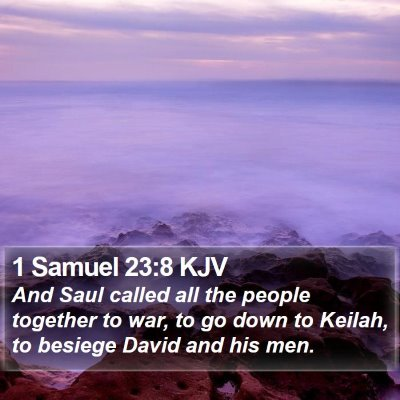 1 Samuel 23:8 KJV Bible Verse Image