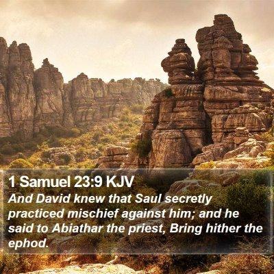 1 Samuel 23:9 KJV Bible Verse Image