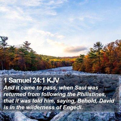 1 Samuel 24:1 KJV Bible Verse Image